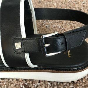 Cole Haan Shoes - Black and White Cole Haan Flatform Sandals Sz 8.5